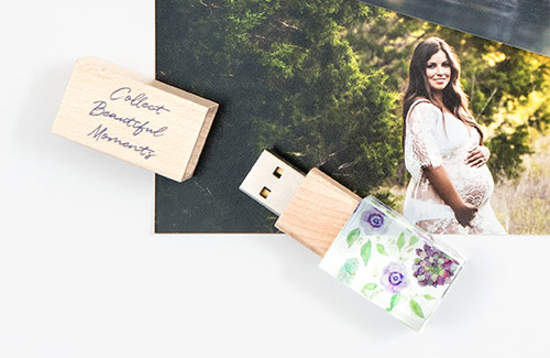 Leave your photography, videography, or design clients with a Custom USB Drive that perfectly matches your brand! Personalize your USB Drive with your logo or with a photo from your client's session.
