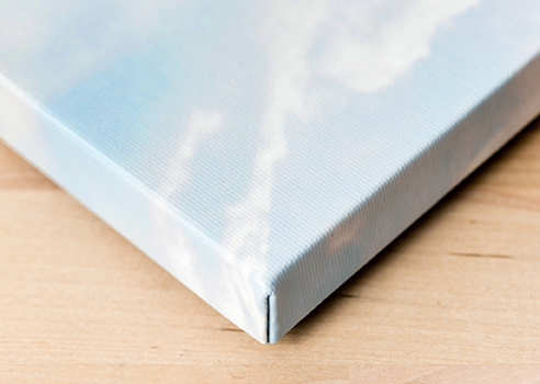 We pride ourselves on our proprietary construction process, through which we can create Canvas Wraps with noticeably tight, clean corners.