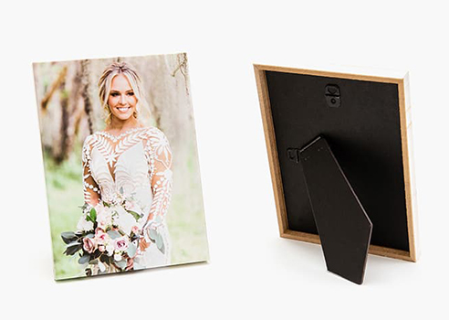 The built in black easel makes your Gallery Stand ready to display right out of the box!